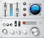 Analog controls interface elements set, vector — Stock Vector