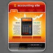 Stock Vector: Finance Accounting Internet Web Site Page Template vector