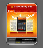 Finance Accounting Internet Web Site Page Template vector — Stock Vector
