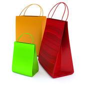 Nákupní taška nad bílým pozadím — Stock fotografie