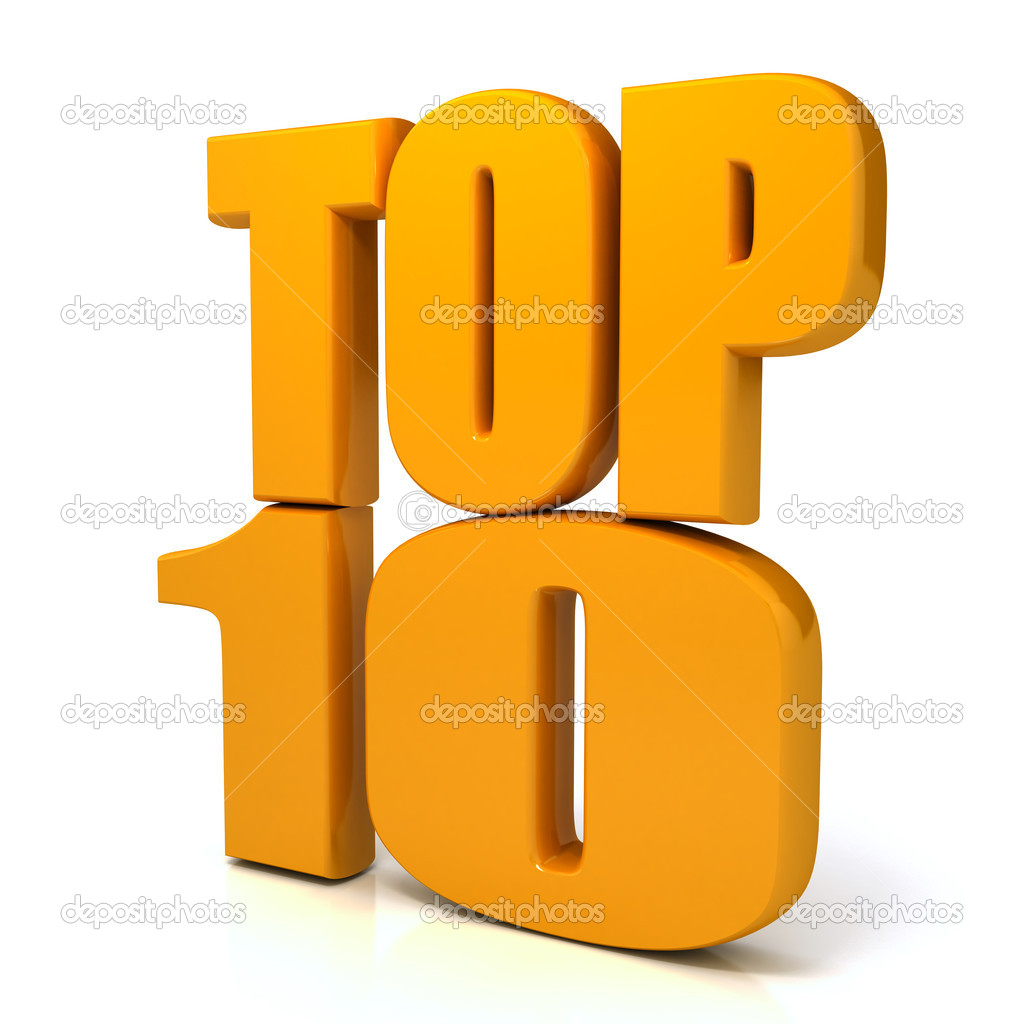 Top 10 words over white background. com  Stock Photo #6042115