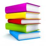 stack of books auf weißem hintergrund — Stockfoto