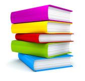 Pila de libros sobre fondo blanco — Foto de Stock