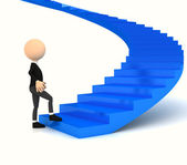 Professional carrier stair over white — Stock Photo