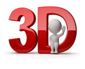 3d small - 3d — Stock Photo