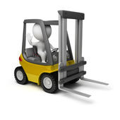3d small - forklift — Stock Photo
