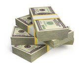 Wads of dollars — Stock Photo