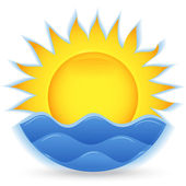 The sun and the sea. An icon for the project. eps10 — Stock Vector