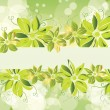 Green floral banner. eps10 — Stock Vector