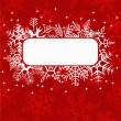 Red xmas banner - Stock Vector
