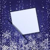 Documento que se adjunta a un banner de navidad. eps 10 — Vector de stock