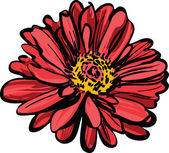 Red flower. Maj. — Stock Vector