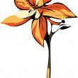 Orange orchid - Stock Vector