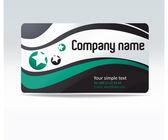 вектор бизнес визитная карточка — Cтоковый вектор