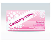 Ladies pink visit card — Stock Vector