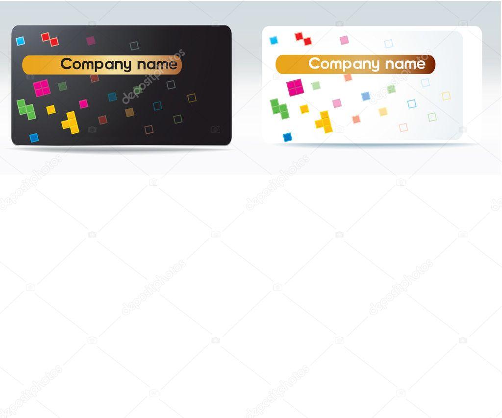 Vector business visit card tetris stock vector c artex67 for Tetris business cards