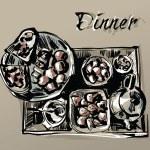 Dinner — Stock Vector #6493767