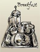 Kahvaltı — Stok Vektör