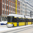Yellow tram in Berlin — Stock Photo