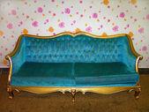 Blue sofa — Stock Photo