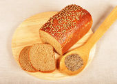 Bread with spices — Stock Photo