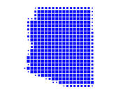Gedetailleerde en accurate illustratie van kaart van arizona — Stockfoto