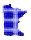Map of Minnesota — Stock Photo
