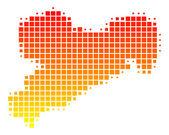 Map of Saxony — Stock Photo