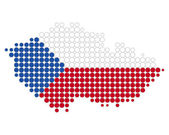 Map and flag of Czech Republic — Stock Photo