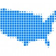 Map of United States of America — Stock Photo #5415356