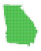 Gedetailleerde en accurate illustratie van kaart van georgië — Stockfoto
