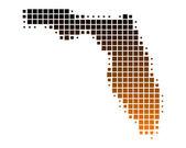 详细和准确地说明了佛罗里达州的地图 — 图库照片