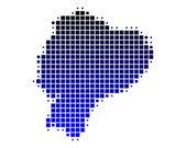 Map of Ecuador — Stock Photo