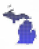 Map of Michigan — Stock Photo