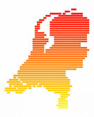 Map of Netherlands — Stock Photo