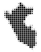 Ilustración detallada y precisa del mapa del perú — Foto de Stock