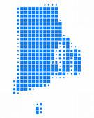 Map of Rhode Island — Stock Photo
