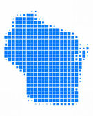 Map of Wisconsin — Stock Photo