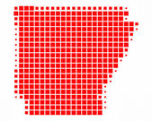 Map of Arkansas — Stock Photo