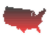 Map of USA — Stock Photo