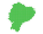 Mapa de ecuador — Foto de Stock