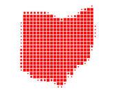 Mapa de ohio — Foto de Stock
