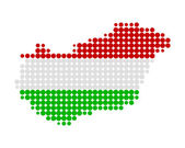 Map and flag of Hungary — Stock Photo