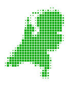 Detailed and accurate illustration of map of the Netherlands — Stock Photo