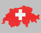 Map and flag of Switzerland — Stock Photo