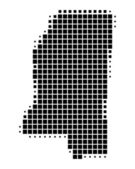 Detailed and accurate illustration of map of Mississippi — Stock Photo