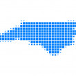 Detailed and accurate illustration of map of North Carolina — Stock Photo #6345079