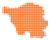 Mapa de Sarre — Fotografia Stock