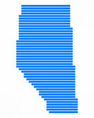 Map of Alberta — Stock Photo
