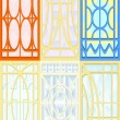 Royalty-Free Stock Vector Image: Stained-glass windows.